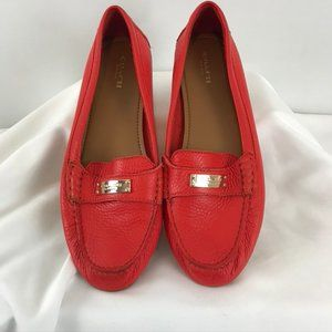 Coach Coral Pink Loafers